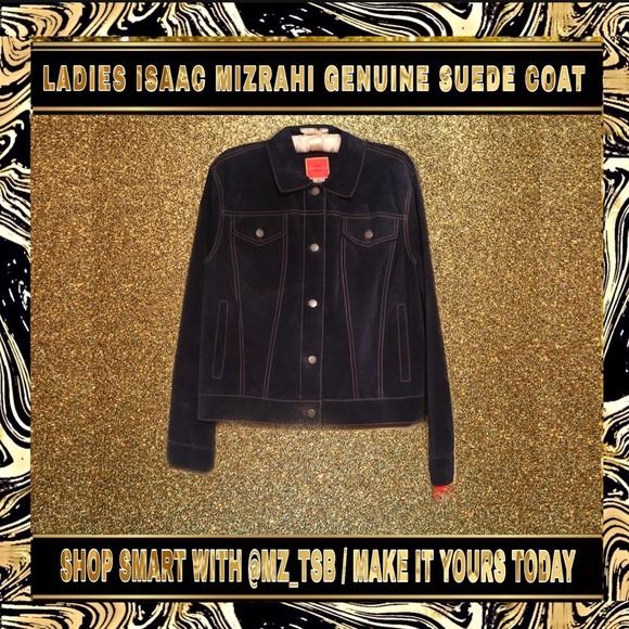 Isaac Mizrahi Jackets & Blazers - ⚫️🔵 LADIES ISAAC MIZRAHI GENUINE SUEDE COAT 🔵⚫️